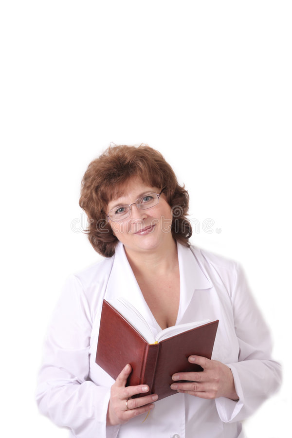 Download Woman doctor with notebook stock photo. Image of nurse - 8061476