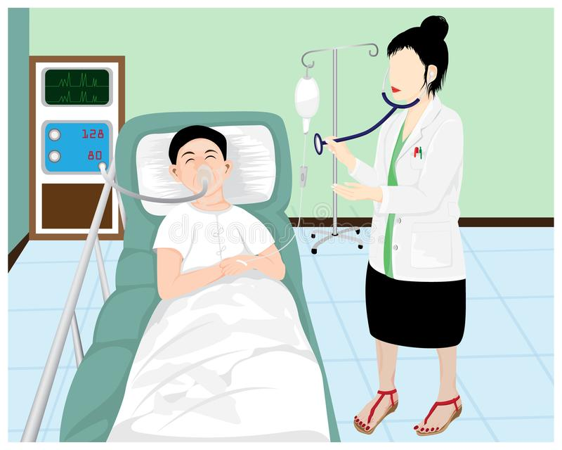 Woman doctor with Patient. Vector design vector illustration