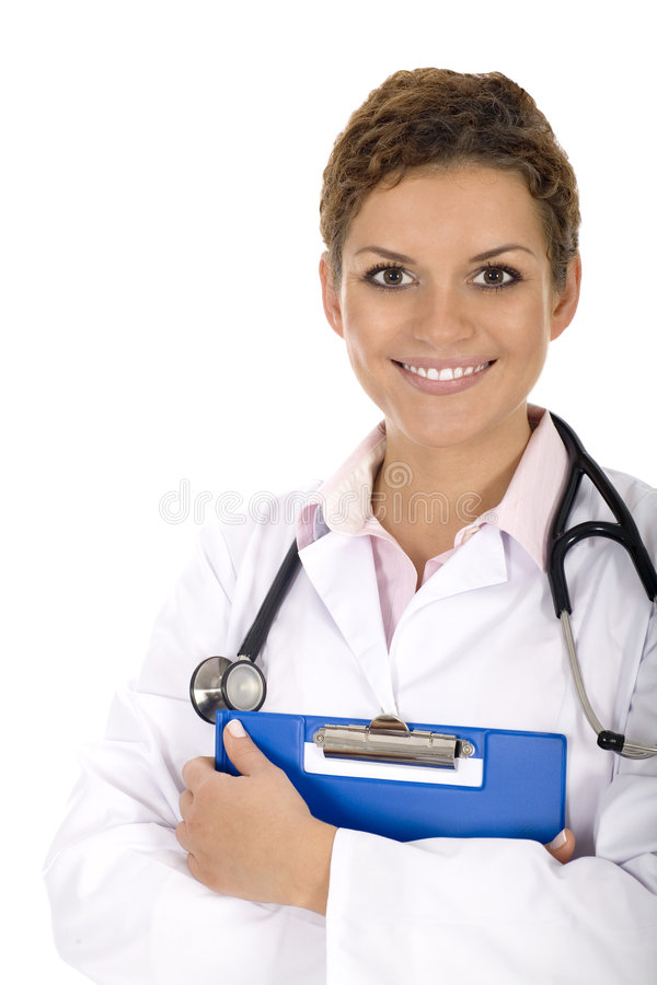 Woman doctor, portrait royalty free stock images