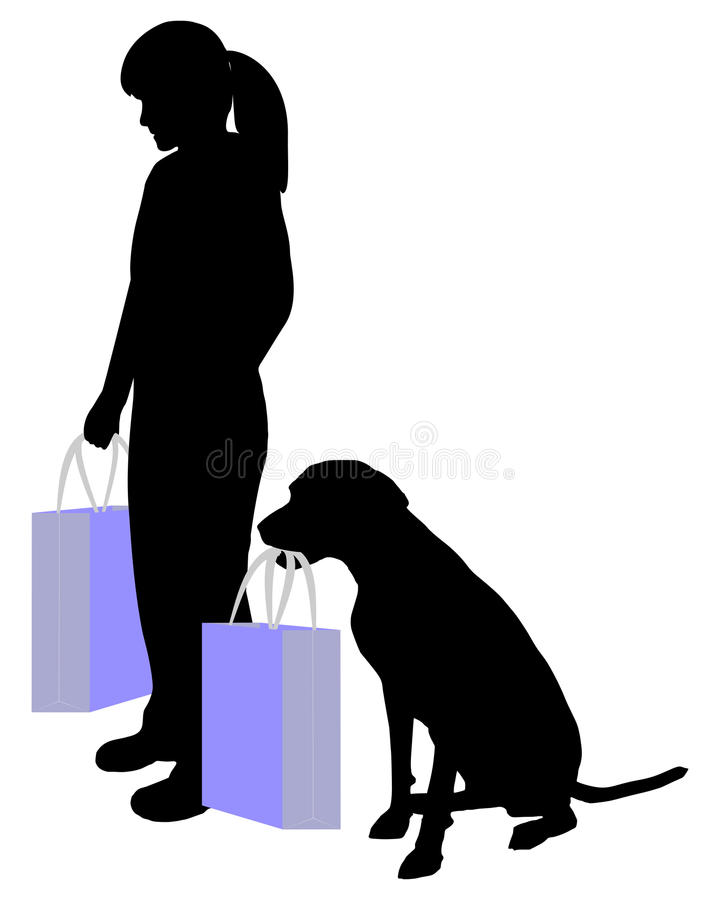 Download Woman And Dog Shopping Stock Photos - Image: 29027703