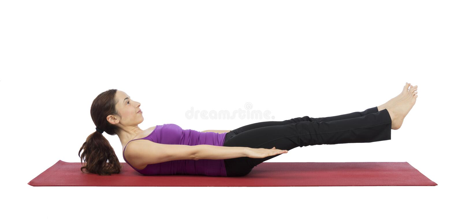 Woman doing abs training royalty free stock photo