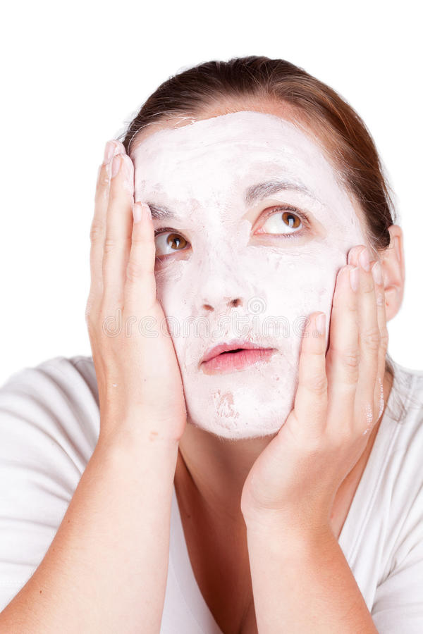 Download Woman doing cosmetic mask stock photo. Image of facial - 19724810