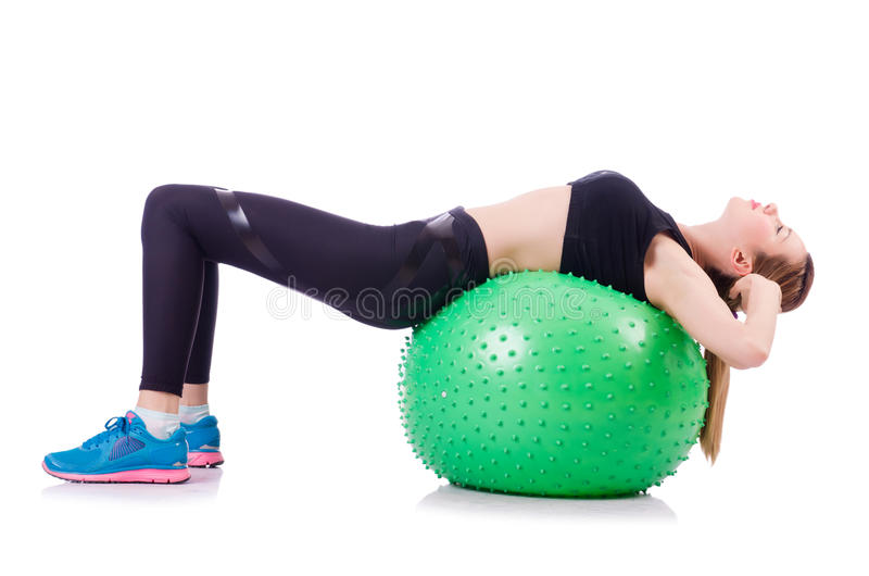 Download Woman doing exercises stock image. Image of active, isolated - 29670685