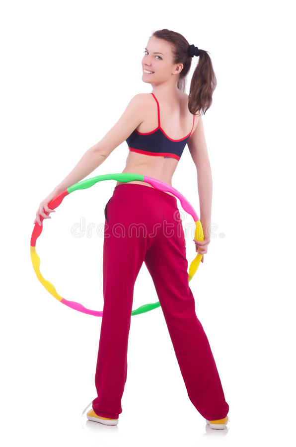 Download Woman doing exercises stock image. Image of cheerful - 33348525