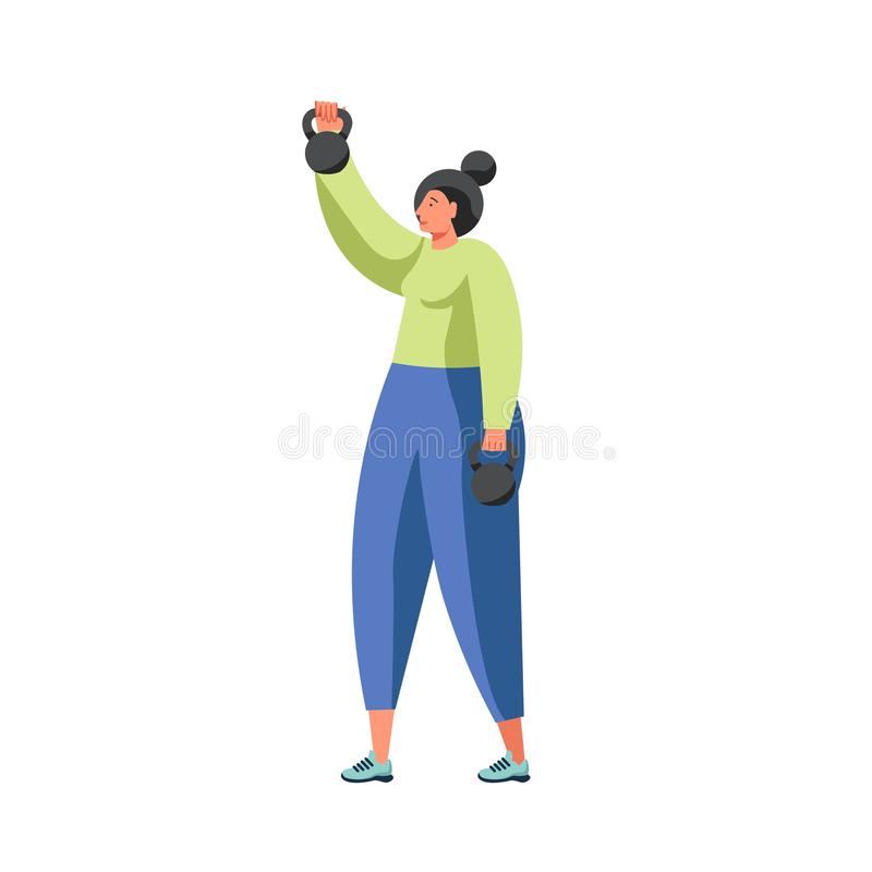 Fitness and gym people vector flat isolated illustration vector illustration