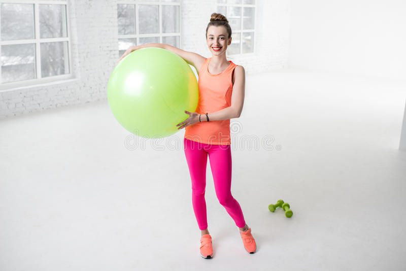 Woman doing fitness royalty free stock photography