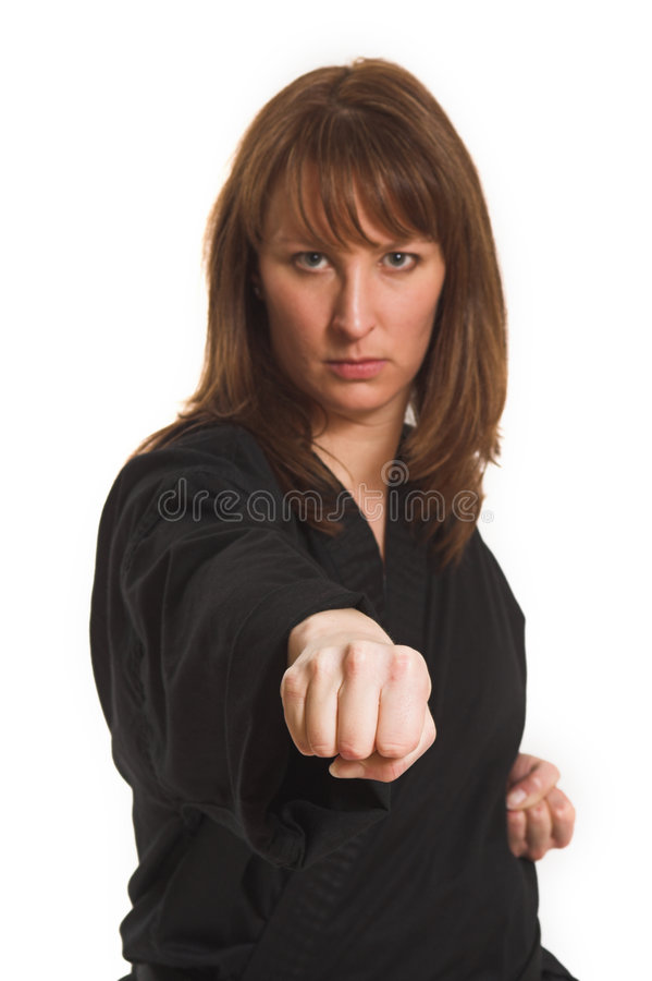 Download Woman doing karate stock image. Image of isolated, exercise - 2251837
