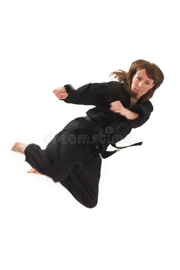 Download Woman doing karate stock photo. Image of people, defense - 2251840