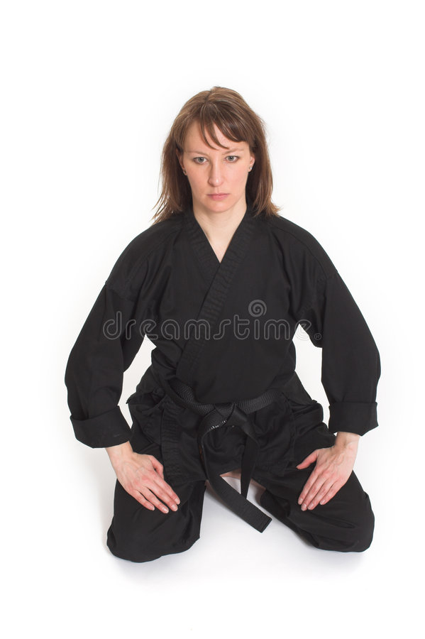 Download Woman doing karate stock photo. Image of health, fight - 2251856