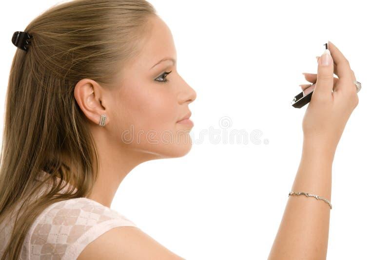 Woman Doing Makeup Stock Image