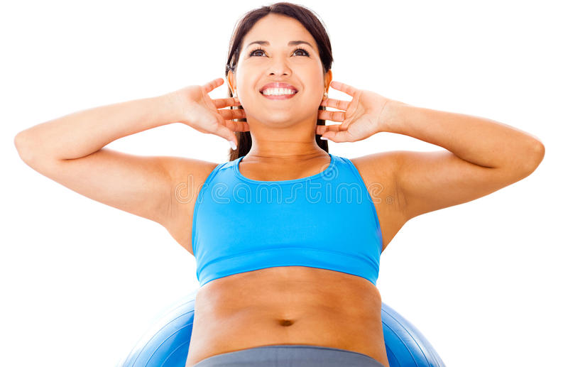 Download Woman Doing Pilates Exercises Stock Image - Image: 24462925