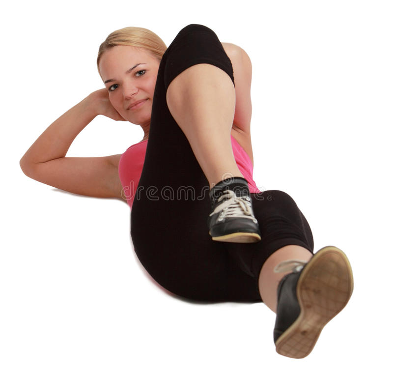 Download Woman Doing Sit-ups Royalty Free Stock Photo - Image: 29896615