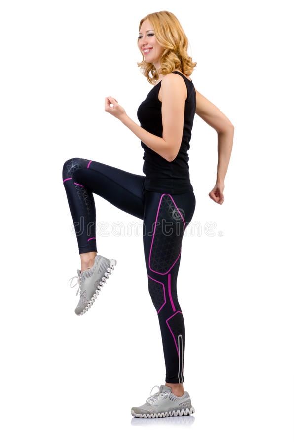 Woman Doing Sports Stock Photo