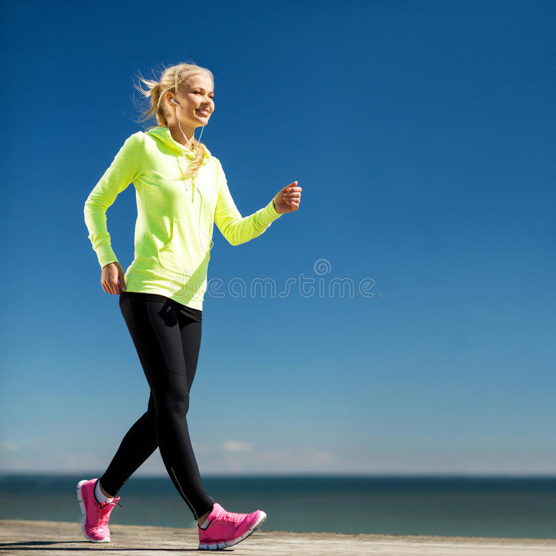 Woman Doing Sports Outdoors Royalty Free Stock Photo