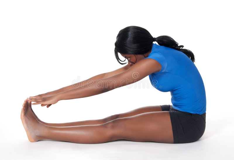 Woman doing stretching exercise royalty free stock image