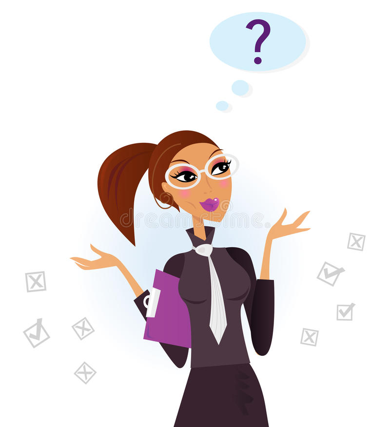Download Woman doing a survey stock vector. Image of contract - 16806524
