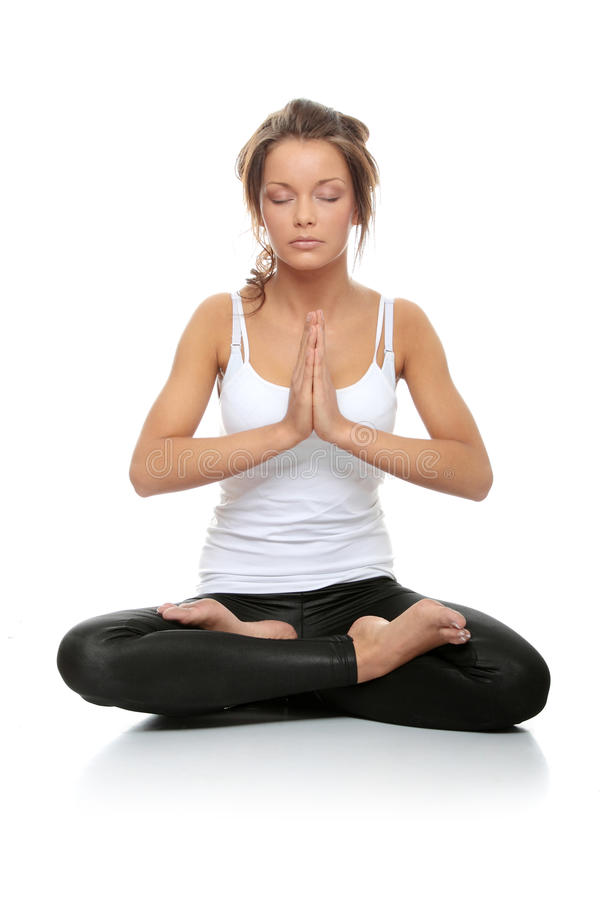 Download Woman doing yoga stock image. Image of healthy, attractive - 15060229