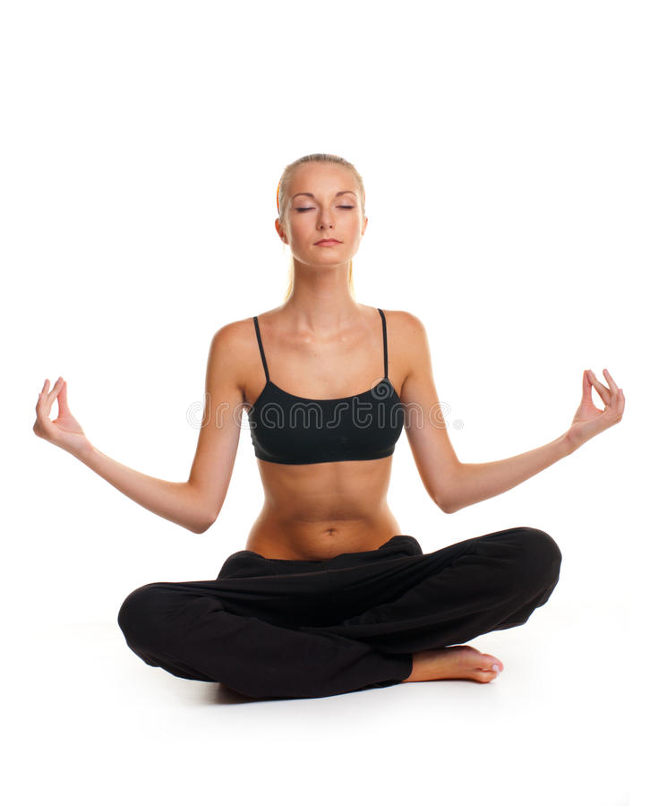 Free Woman Doing Yoga Exercise Royalty Free Stock Images - 17889069