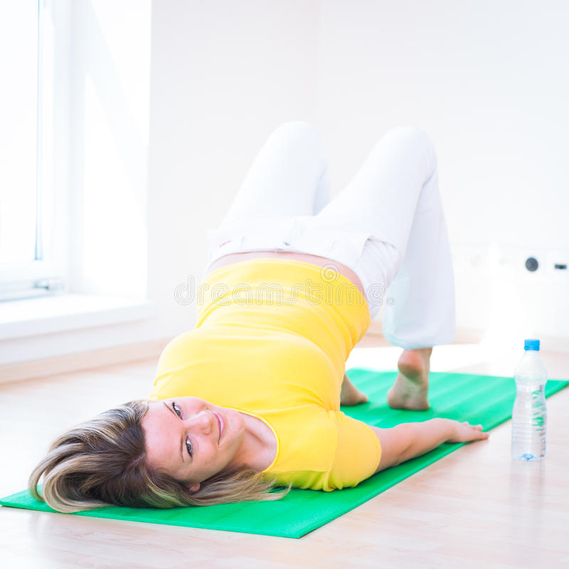 Download Woman Doing YOGA Exercise At Home Stock Image - Image: 25110327