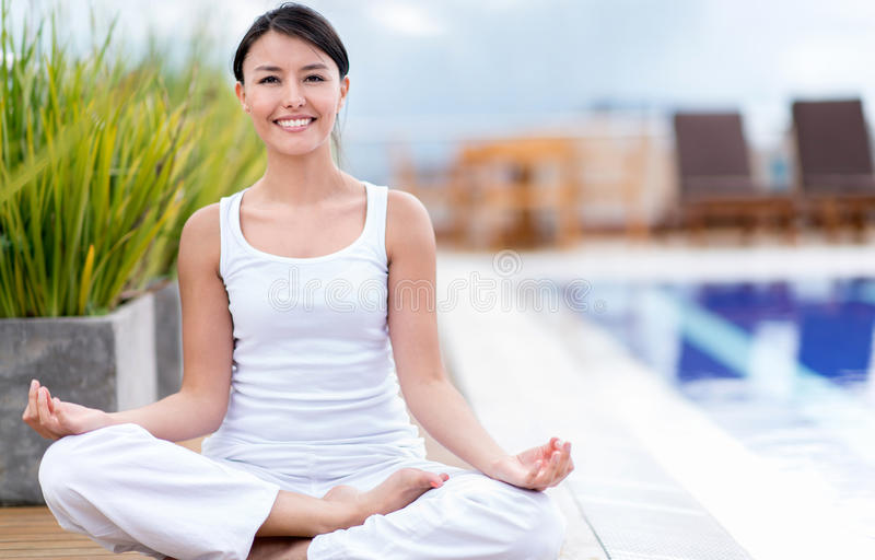 Download Woman doing yoga stock image. Image of beautiful, outdoors - 31476297