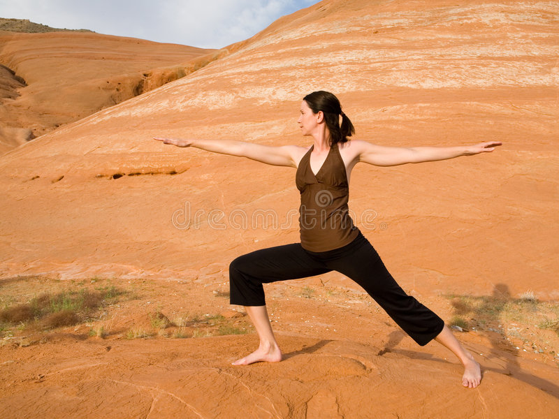 Download Woman Doing Yoga In Wilderness Stock Image - Image: 6050699