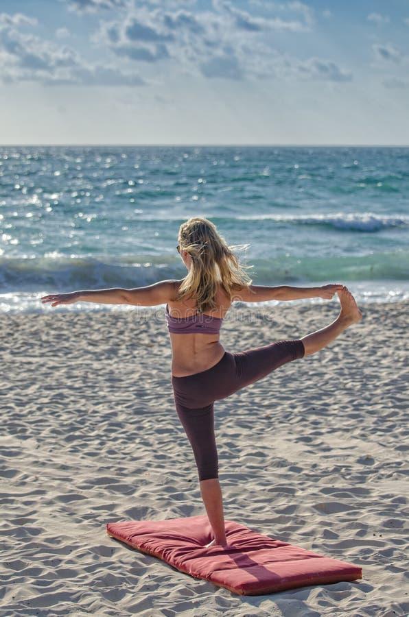 Woman Doing Yuga On Seashore Free Public Domain Cc0 Image