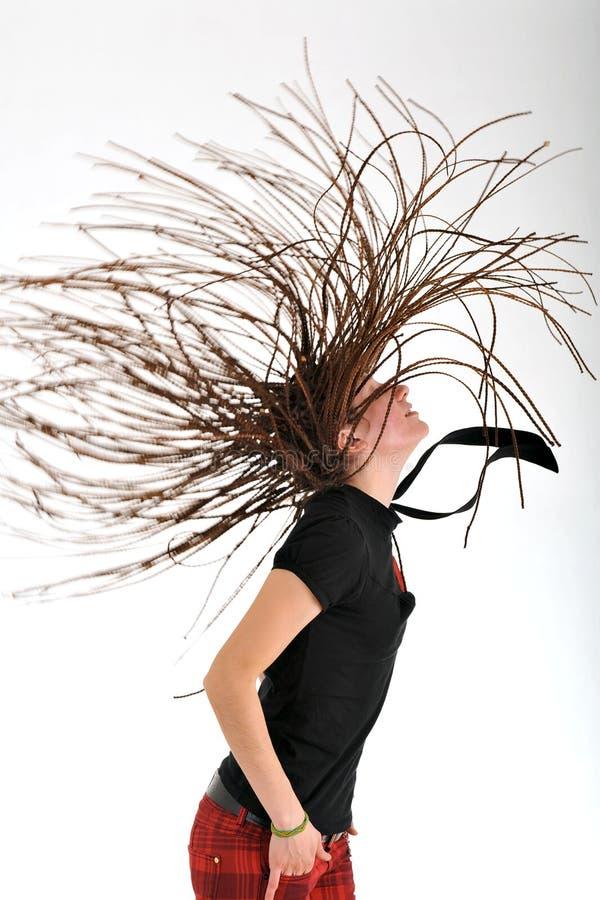 Woman with dreadlocks royalty free stock photo
