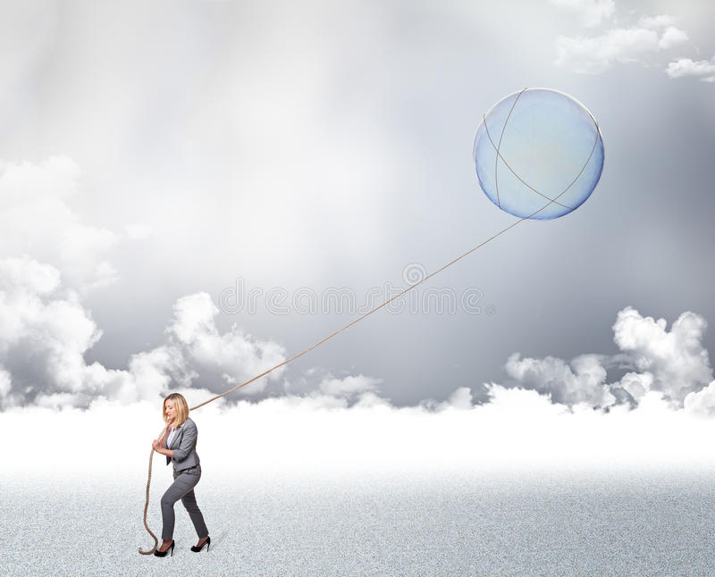 Download Woman dream stock illustration. Image of sphere, determination - 26652191