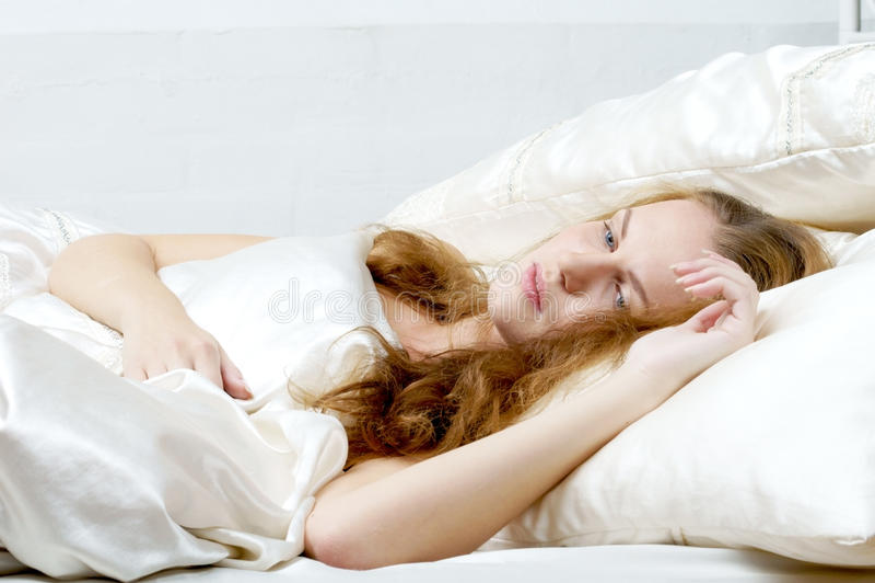 Woman dreaming in deb