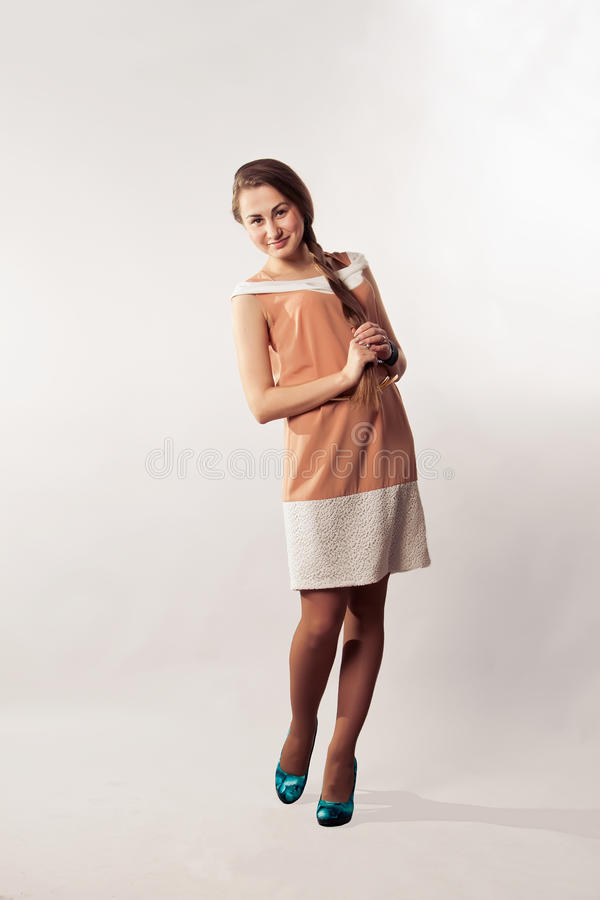 Woman in dress royalty free stock images