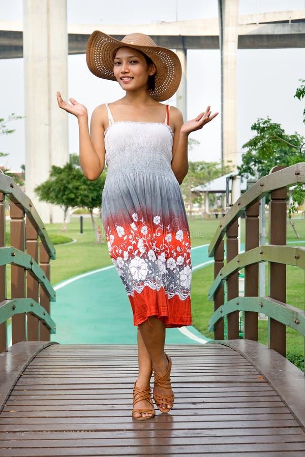 Woman in dress stock image
