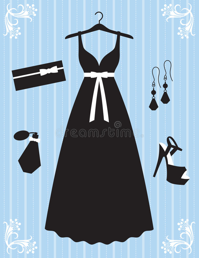 Woman Dress and Accessories. Illustration of woman dress and accessories vector illustration