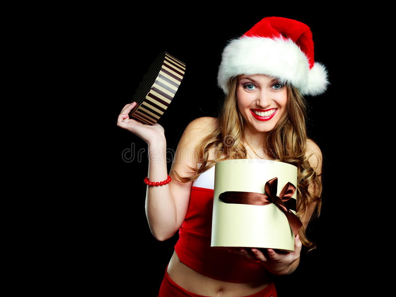 Download Woman dressed as Santa stock image. Image of attractive - 11551393