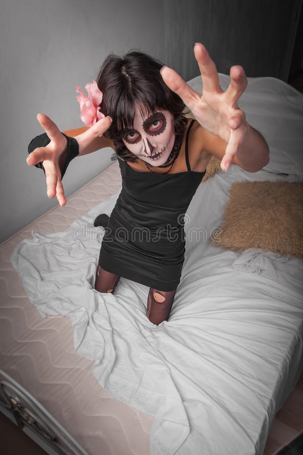 Free Woman Dressed As Zombies Royalty Free Stock Image - 60469586