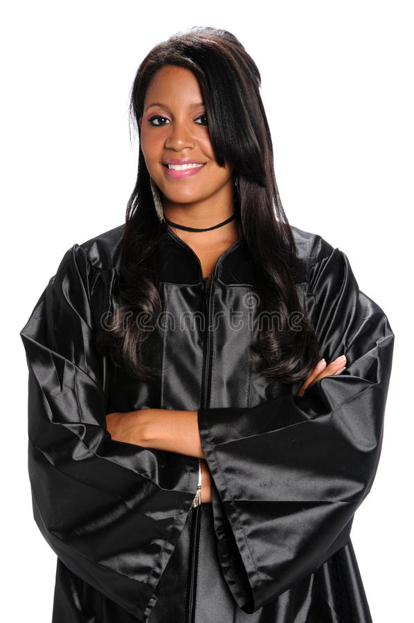 Download Woman Dressed In Graduation Gown Stock Image - Image of cheerful, graduation: 11158265