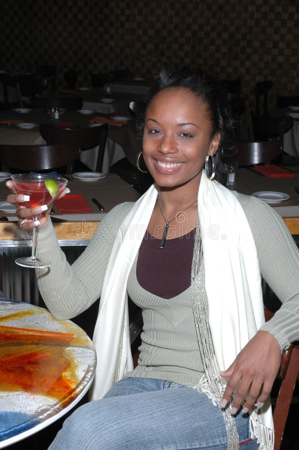 Download Woman with a Drink stock image. Image of attractive, club - 1598731