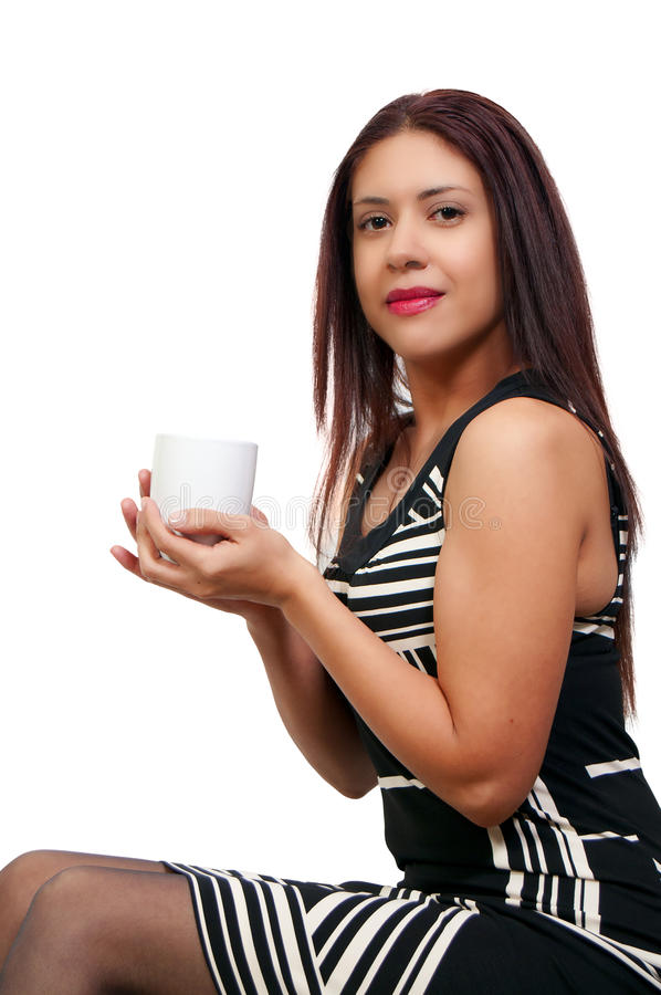 Woman Drinking Coffee Royalty Free Stock Image