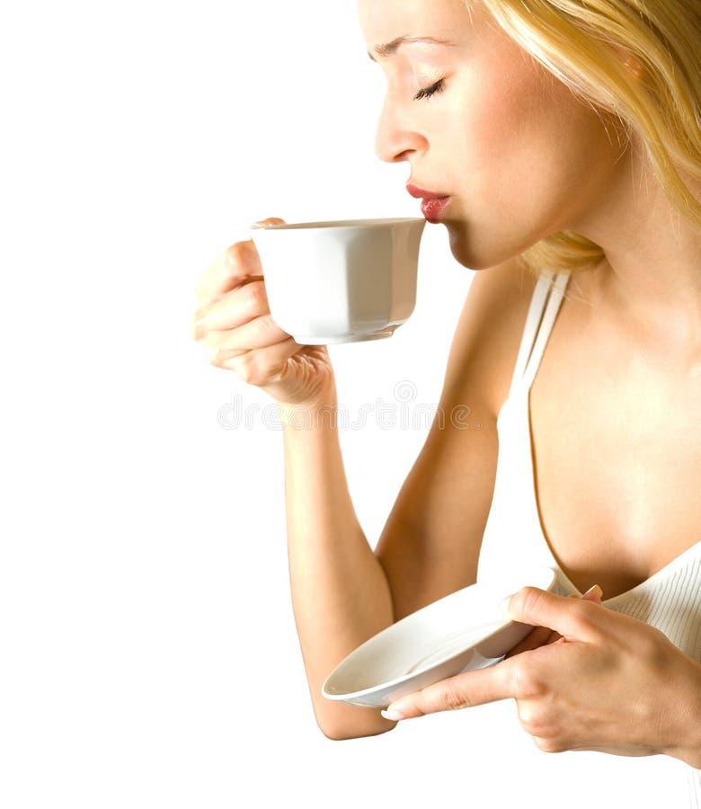 Free Woman Drinking Coffee Royalty Free Stock Photos - 2815138