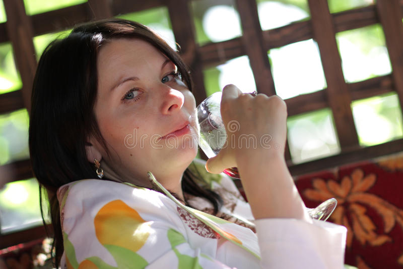 Download Woman drinking red wine stock image. Image of celebration - 14792141