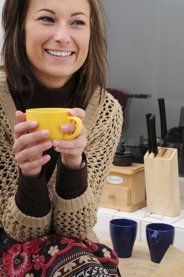 Download Woman Drinking Tea Royalty Free Stock Image - Image: 10960036