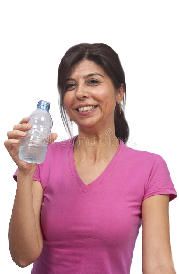 Download Woman drinking water stock image. Image of gymnastics - 16633027