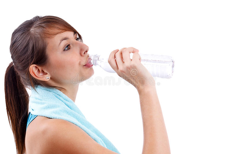 Download Woman drinking water stock image. Image of skin, loss - 22667679