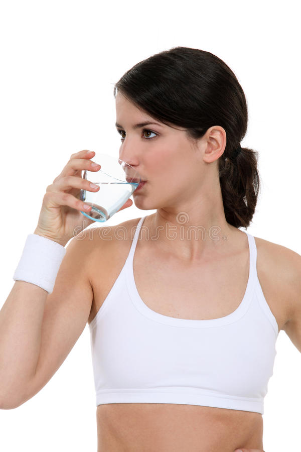 Download Woman drinking water stock image. Image of fitness, confidence - 24158945