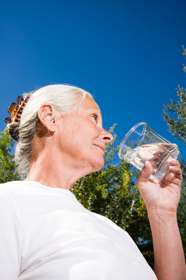 Free Woman Drinking Water Royalty Free Stock Photo - 6263225