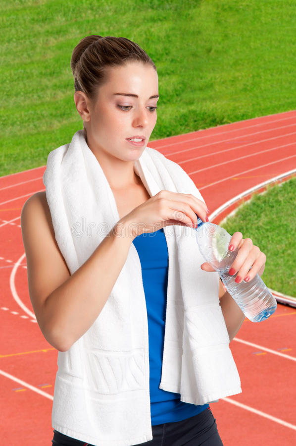 Download Woman Drinking Water stock image. Image of drinking, sport - 31017921