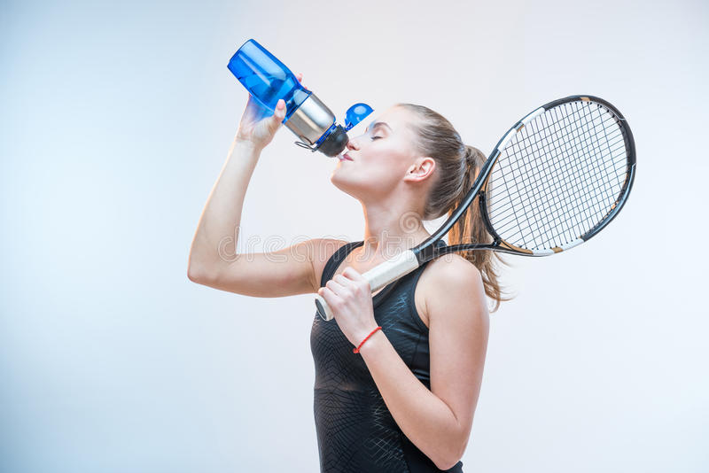 Download Woman drinking water stock image. Image of active, sports - 90431197