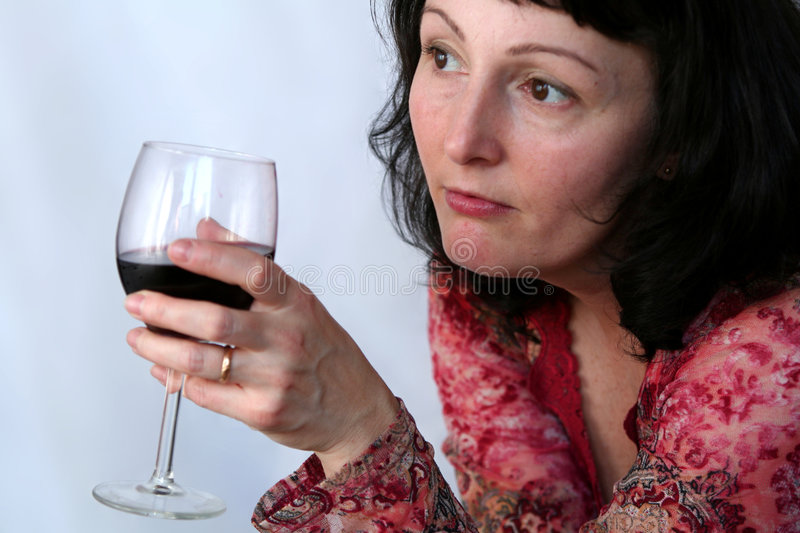 Download Woman drinking wine stock photo. Image of aged, happiness - 2300590