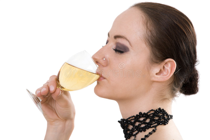 Download Woman Drinking Wine Royalty Free Stock Images - Image: 2337259