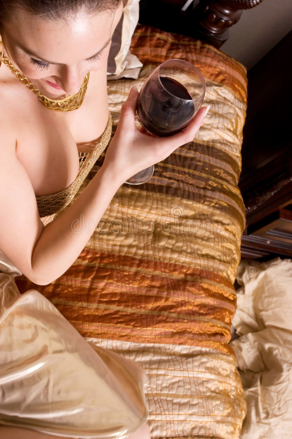 Download Woman drinking wine stock photo. Image of drinking, gorgeous - 7769372