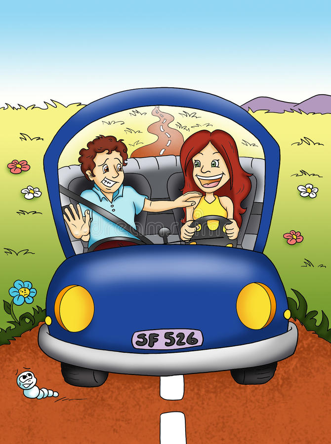 Download Woman that drives stock illustration. Image of belt, road - 15060469
